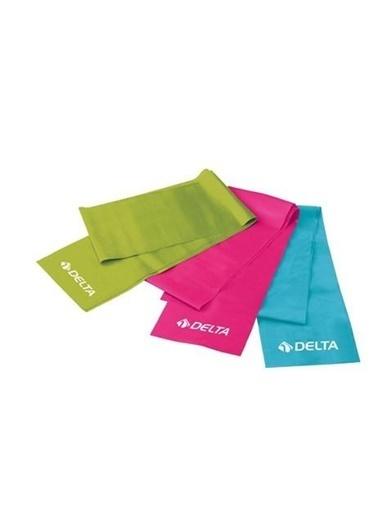 Delta Delta 3'Lü Pilates Bandı 120 Cm X 15 Cm Egzersiz Direnç Lastigi Renkli